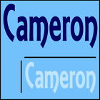 Cameron Boys Name Wall Sticker -18x40cm Interior Home Vinyl Decal Decor Sign