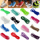 2 Pairs Flat Coloured Shoe Boot Trainer Skate Laces 16 Colours New Shoelaces