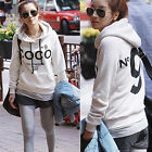 Korean Women Hoodie COCO Jacket Coat Sweatshirt Outerwear Hooded Sweater  UK FO