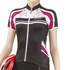 Santic Women BELLA Flower Outdoor Sports Cycling Jersey Short Sleeve Polyester