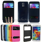 Flip Leather Window Front S-view Case Battery Cover For Samsung Galaxy S5 i9600