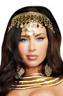 Egyptian Queen Goddess Shimmering Gold Coin Crown Costume Accessory