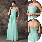 New HOT Sweetheart Long Pleated Cocktail Bridesmaid Prom Party Evening Dresses 3