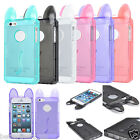 Crystal Clear TPU Back Bumper Cat Case Cover Protector For Apple iPhone 5 5S