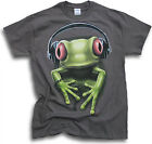 DJ Rock Rave Party Red Eye Green Tree Frog Funny Mens Womens T Shirts Sm - 3XL
