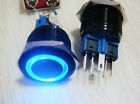 22mm! 12V Black blue/red Metal Push Button Switch Annular LED momentary latching