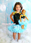 "Princess Elsa Rhinestone Anna Baby Top Skirt & 18"" American Doll Outfit NB-8Year"