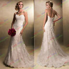 Graceful A-Line Empire Lace White/Ivory Wedding Formal Pageant Evening Dress
