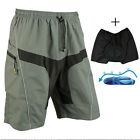 Men's Bike Bicycle Loose Shorts Detachable Padded MTB Cycling 1 / 2 Pants M-3XL