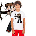 The Diamond archer Minecart kids tshirt childs tshirt GAMER youtube