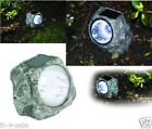 Garden Solar Powered LED Rock Lights 1/2/4/6/8 sets Patio Decking Outdoor
