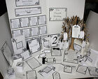 The FLOURISH Handmade Wedding Stationery Collection ~ Full Range ~Any colour/Qty