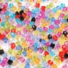 For DIY 6MM Bling Acrylic Swarovski Crystal Bicone Charms Beads 500pcs/set