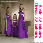 Long sash Bridesmaid dress evening dress prom dress party dress ball dress gown