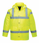 "hi viz waterproof jacket, printed ""recovery"" on back, breakdown service jackets"