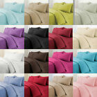 Plain Duvet Cover with Pillowcase Bedding Set Fine Quality Available all sizes