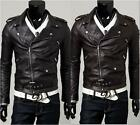 HOT Men's Slim Top Designed Sexy PU Leather Short Jacket  2color 4 size-USAB