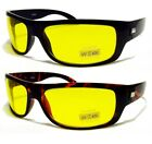 hd vision wraparound sunglasses - HD High Definition Vision Driving Sunglasses WrapAround Yellow Night Glasses NEW