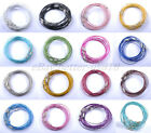 Wholesale 10/100pcs Stainless Wire Cable Steel Chains Cord Charms Bracelets 1MM