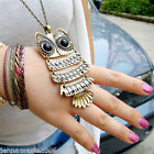 Women Fashion Vintage OWL Long Chain Necklace Pendant Jewellery Gift