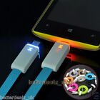 Smart LED Micro USB Charger Light Data Sync Flat Cable for Sumsung S3 S4 HTC LG