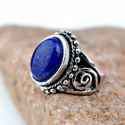 Tibetan Silver turquoise crystal cocktail Ring Party statement jewelry Size 7