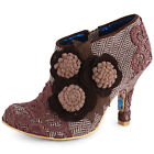 Irregular Choice Cheeky Moos Womens Fabric Brown Heels New Shoes All Sizes