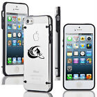 For iPhone 4 4s 5 5s 5c Clear Hard TPU Case Cover Stand Up Paddle Board Surf