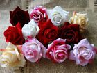 Velvet rose Artificial Silk Flower Head Wedding bridal decor home garden 2.8inch