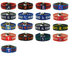 leather baseball bracelet team color gamewear MLB PICK YOUR TEAM on Ebay
