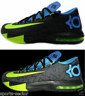 Nike KD VI Mens Basketball Shoes Trainers Black/Volt Sizes UK-7-9
