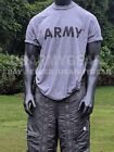 Official US ARMY Gray Moisture Wicking PT PTU Short Sleeve SS T-Shirt Reflective image