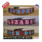 Brown Leather Dog Collar - Custom Made Dog Collars - Large Personalized Collars