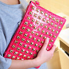 100% Brand New High Quality Rivet Clutch Bag Shoulder Bag Envelope Bag Handbag