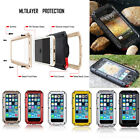 For  iPhone 7 8 Plus Samsung Note 8 Extreme Armor Shockproof Aluminum Cover Case