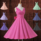 Vintage 50s Dress Swing Pinup Retro Prom Party evening dresses Cotton
