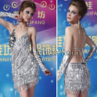 FREE SHIP Women Vintage Bling Sequin Fringe 1920s Flapper Inspired Party Dress 1
