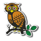 2 x Glossy Vinyl Stickers - Owl on Branch Cute Funny iPad Laptop Decal #4070