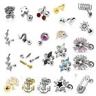 Novelty Steel Cartilage Upper Ear Stud Earring Helix Bar - Choose Design