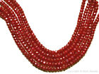 RUBY 4-5mm Faceted Rondelle (10/15/20 Precious Gemstone Beads) Pick-A-Size