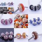 MB~Wholesale Austrian Crystal Resin Big Hole Beads Fit Charm Bracelet PB426-436