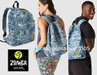 .Zumba Backpack Bag Tote Duffel Gym Travel-Denim Daze Let's Escape DURABLE ROOMY