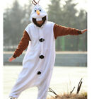 Olaf Snowman Onesie Animal Fancy Dress Costume Kigurumi Pajama Sleepwear Hoodies