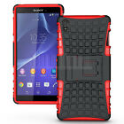 Sony discount duty free Rugged Shockproof Armor Hybrid Rubber Case Stand Cover Hard For Sony Xperia Z3