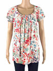 New  Tags Marina K Cream Abstract Print Tunic Top Plus Size 16 18 20 & 22/24