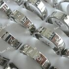 8-40pcs wholesale Rhinestone Constellation  stainless steel rings free shipping