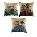 Wacky Races Tapestry effect filled cushions featuring racing dogs, 18 inch x ...
