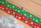 "5/8"",1""(U pick) CHRISTMAS Xmas Snowflakes Grosgrain Ribbon hair Bow 5/10/20Yds"