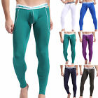 Fashion Men Smooth Underpants Long Pants Winter Warm Thermal Low Rise Underwear