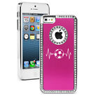 For iPhone 6 6s Plus Crystal Rhinestone Bling Case Cover Heart Beats Soccer
